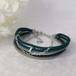 ●kono (jade green)絹組ひも5連ブレスレット