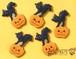 ハロウィンクッキー大サイズ 黒猫とかぼちゃ SHONPY アイシングクッキー
