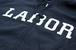 LABOR Logo Zip Hood BLACK