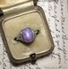 Art Deco Lavender Sapphire Ring