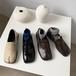 足袋ローファー 革靴 ローヒール 個性的 革靴 ローヒール 合皮 革 黒 ブラック 白 ホワイト 茶 ブラウン 履きやすい 歩きやすい カジュアル 韓国