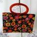【LADY'S PRIDE】レトロポップな花柄 2WAYトートバッグ アメリカ70年代