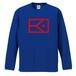 KYUS ロゴ ドライシルキー ロングスリーブTシャツ(ブルー×レッド)