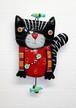 Allen Design  黒猫&小鳥 振り子時計