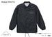 3日間限定受注生産】山ロゴ刺繍コーチジャケット ブラック 刺繍白