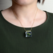 リンフラワーのネックレス 14kgf(ドライフラワー, レジン, 送料無料)