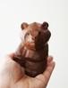 木彫りの熊 / 手のひらサイズの2頭身熊