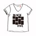 BLACK FLAG no no BLACK FIVE V-TEE ( W )