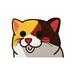 三毛猫  (小)     猫ステッカー