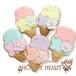【期間限定セール360円】アイスクリームのアイシングクッキー SHON-PY HEART 結婚式プチギフト