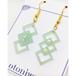 Polygon Square × Acrylic《オパールグリーン》 ピアス or イヤリング