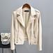 ライダースジャケット レディース レザージャケット アウター 大きいサイズ フェイクレザー ジャケット 長袖 無地 春夏 全2色 P2248