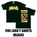 FIRE LOGO T-SHIRTS[BLACK]