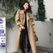 アウター トレンチコート レディース 春秋 ロング丈 カジュアル ウエストマーク スプリングコート 大きいサイズ 大人可愛い 20代30代40代