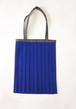 PLEATS TOTE BAG / BLUE x Gray [size:F]