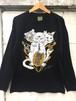 『Lucky cat』Long sleeve T-shirt Black