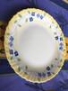 フランス アルコパル社 平皿 黄色地に青い花