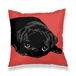 Black Pugクッションカバー CUBP-RB1-450