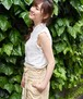 ノースリーブ刺繍ホワイトブラウストップス レディース 夏 ストライプ シンプル おすすめ
