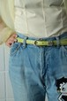 light green lether belt