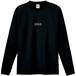センターロゴ刺繍ロンTEE(黒)