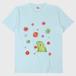 がおと花降るTシャツ/ライトブルー