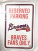 アトランタ ブレーブス Atlanta Braves パーキングプレート パーキングボード メジャーリーグ RICO 2844
