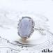 ブルーレースアゲートのリング【Melty ring<Blue lace agate>】
