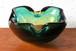 60年代~70年代 イタリア・ムラーノ ベネチアン・グラス アッシュトレイ 小物入れ アンバー×グリーン