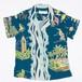 Jams World Print Top Nokaoi Blue【ジャムズ ワールド】ノカオイ ブルー ウィメンズ アロハシャツ
