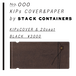 KIPs COVER&PAPER by STACK CONTAINERs [black]