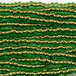 Seed Beads、サイズ11/0、Copper Lined Lt Green