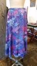 SK-012 70s パープル系小花柄巻きスカート Purprle flower print wrap skirt