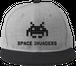 スペースインベーダー フラットバイザーキャップ ヘザーグレー/ブラック