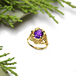 Pansy Amethyst  ring