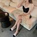 【dress】輝いて超人気 ! 切り替えフリルフェミニンデートワンピースオシャレ M-0287