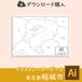 稲城市の白地図データ