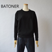 BATONER/バトナー・loopweel knityyarn crew neck sweat