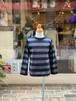 KIDS&WOMENS:Groovy colors【グルービーカラーズ】天竺ボーダーSTANDARDロングスリーブTEE(ブラック/150,160cm)ボーダーロンT
