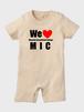 MIC赤ちゃん服 ロンパース ナチュラル 80