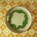 モダントレイ 木の葉柄 円型 大 昭和レトロ