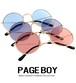 サングラス ラウンド py2667 UVカット 紫外線対策  丸サングラス ライトカラーレンズ メタル レディース メンズ ページボーイ