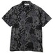 PAISLEY OPEN COLLAR SHIRT (BLACK) / RUDE GALLERY