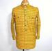 1950's ELTON ライトウールシャツ キャッツアイボタン 黄 表記(14 1/2)