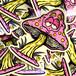 """""""Funky Fungi"""" Sticker by Burrito Breath"""