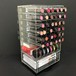 クリスタルクリアアクリル回転メイクアップオーガナイザータワー 透明 (コスメボックス) NL-COM3633-C