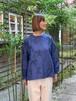 WOMENS:LILOU+LILY【リルアンドリリー】MIGRATORY BIRD  PULLOVER SHIRTS(ネイビー/ワンサイズ38のみ)渡り鳥刺繍プルオーバーシャツ