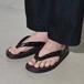 """Leather Sandal """"雪駄""""  - Crocodile Black〈 No,No,Yes! vs TOKYO SANDAL 〉"""