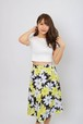 7sheets flare flower skirt YEL