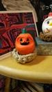 アゼカワブチョーのまゆダルマ(ハロウィンかぼちゃ、巣付き)